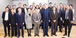 3776 - (株)ブロードバンドタワー 中国製造2025訪日調査団の19名の各界のエリートたちが東京・日比谷公園を見下ろす株式会社ブロードバ