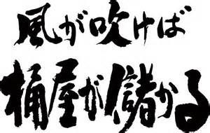 日本語雑記帳 風が吹けば桶屋が儲かる from ja.wikipedia  風が吹けば桶屋が儲かる(かぜがふけばお