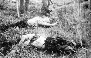 秘密保護法案=戦前の 「治安維持法」と同じ効果。 拡大解釈で、政権批判者を逮捕( 外国特派員協会も、 反対) 鬼畜のなせるわざか!!       韓国軍によるヴェトナムでの日常的な虐殺行為!!     妊婦を跪