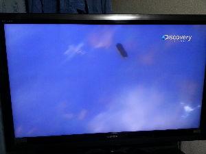 未確認の生物・物体 スペースシャトルを打ち上げたときに 固体燃料を切り離すときの場面に 映った映像・・・・・・・三角形の