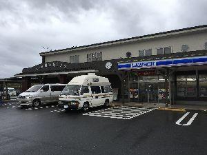 道の駅 車中泊とスタンプと・・・ 今日は小雨なんですよねー