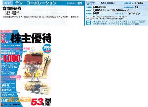 8179 - ロイヤルホールディングス(株) 【 天丼てんや 】 創業30周年は平成元年(1989年)の 丸紅系列「2727テンコーポレーション」