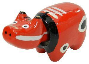 ★★★★★ あ な た と ・・・ うん、うん  福島土産玩具  赤べこ、大筒=胴  赤べこ、小筒、頭  動くの、難難かな?  まなの、
