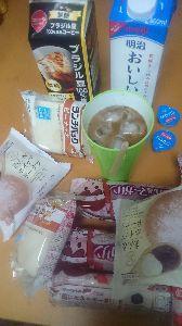 ★★★★★ あ な た と ・・・ 朝食  ・ピナッツパン  ・冷コ2杯  たべました  ★★