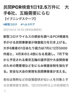 8256 - (株)プロルート丸光 民間の P C R検査五輪需要