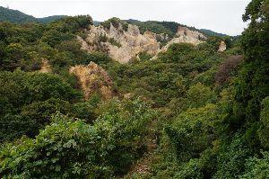六甲山 現在の蓬萊峡界隈です。 ちょっと色づいた程度で 全体が黄葉、紅葉するのはまだまだ先ですね。  ちょっ