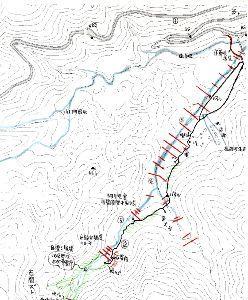六甲山 文章ではわかりづらいので 地図に落としました。