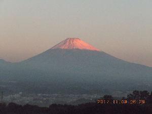 走った後のビールはうまい!! 朝jog反射タスキを掛けて、駅伝スタイルでトボトボト。。 今朝の富士山