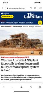 1605 - 国際石油開発帝石(株) オーストラリアのあるLNGプラントは、炭素回収システムに欠陥あって、改善修正までシャットダウン要求さ