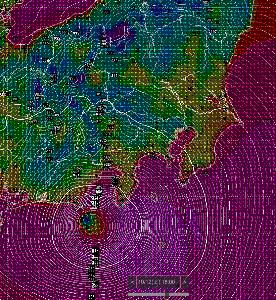 9702 - (株)アイ・エス・ビー お利口さん お疲れ様です 明日の夜は,厳しい気圧状態で台風が直撃しそうです。海からそのまま上陸してく