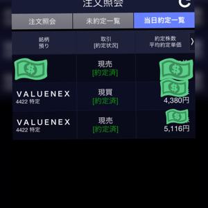 4422 - VALUENEX(株) 利確しましたが様子みてまた入るかもしれません。ホルダーに益あれ!