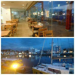 ■■破産寸前の超・貧乏個人投資家の株式投資■■ ここで食べました。 三崎港が見えました。