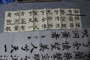 古希の手習いで書道を始めました。 参考にした手本は  芳翠書、前赤壁賦です、折手本を  使っています。