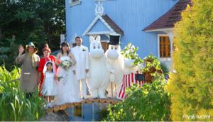 8789 - フィンテック グローバル(株) ムーミンバレパークの結婚式で、カエラがバタフライを歌うとかやってくれた凄い盛り上がるなあ。