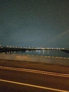 8789 - フィンテック グローバル(株) あいよ~ 今日も荒川は静かに流れている おやすみなさい