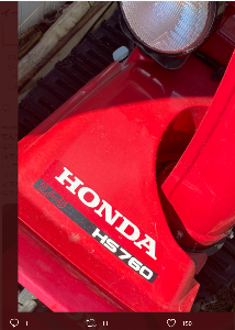 7267 - ホンダ 本田技研工業さんのリツイートです 雪国の方なんでしょうね  「今年もこの時期がやってきました 除雪機