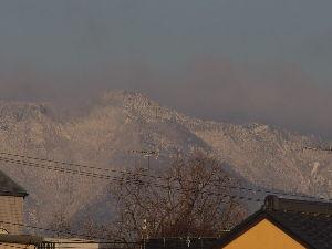 OLYMPUS OM SERIES (いつもの風景)京都 愛宕山方面 先ほどの撮影 現在の外気温 1.0度  鴨川遊歩道からの 京都市内