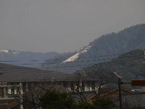 OLYMPUS OM SERIES (いつもの風景)残雪 本日 午後の画像・・鴨川 七條大橋より 大文字を望む。 この積雪位置は8/16