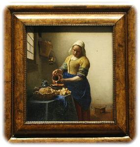 OLYMPUS OM SERIES (いつもの風景)美術館にて。 この絵は教科書にも掲載されている フエルメ-ルの牛乳を注ぐ女 なんと撮