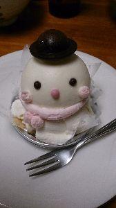 ひとりごと☆彡 雪だるまケーキ