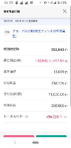 0231118A - グローバル3倍3分法ファンド(1年決算型) 1月に比べ微減でしたね 最後の下げがきつかった