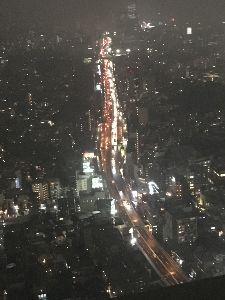 シェイプアップ♪ 10月6日  六本木ヒルズ52階からの夜景