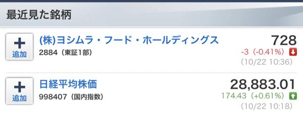 2884 - (株)ヨシムラ・フード・ホールディングス あと1円なんだから 頑張れよ‼️   吉村 安東