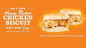 WEN - ウェンディーズ $3.99のHoney Butter Chicken Biscuit が5月2日まで$1.99 とい