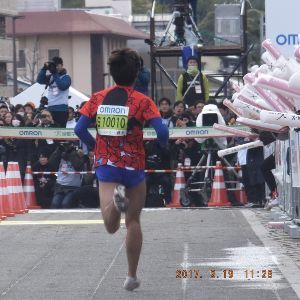 京都のタクシードライバーとお話ししませんか? 昨日の京都マラソン  フニッシュテープ
