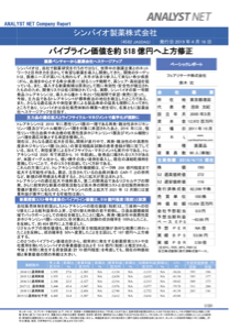 4582 - シンバイオ製薬(株) シンバイオ製薬株式会社 (4582 JASDAQ)発行日 2019年4月16日 パイプライン価値を約