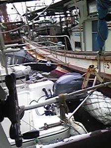明石海峡の釣りを楽しく!情報交換の場 会長さん  今日は有難うございました。 「台風20号」昨夜は良く風が吹きました。今朝A氏からメールを