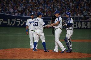 還暦になりました。 こんばんは 9月29日中日阪神戦 浅尾投手引退セレモニーからです 今日は台風一過いい天気でした ココ