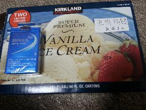 3224 - (株)ゼネラル・オイスター コストコでカークランドスーパープレミアムアイスを購入しました。 物凄く大きいですよ(笑)