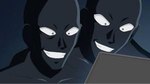8423 - アクリーティブ(株) アクリちゃんを襲う黒い影だね。あんまりいじめないで。゚(゚´Д`゚)゚。