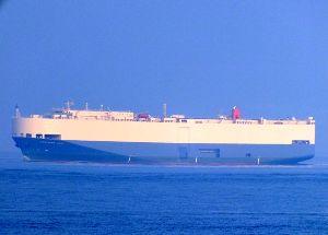 7148 - (株)FPG FPGとは、直接関係ないがコンテナで思い出した  2006年、アメリカ入港直前に、COUGAR AC