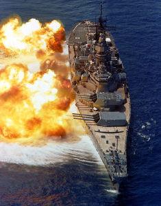 3765 - ガンホー・オンライン・エンターテイメント(株) モルガン艦隊に砲撃開始 大和級より小ぶりなアイオワ