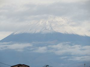 いろいろ写真館~♪♪ 皆さん~おはよう♪  寒い寒いと思っていたら、富士山に初冠雪です。  薄曇りでスッキリ写っていません