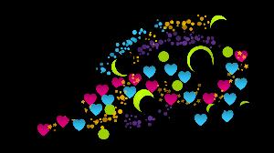 春の日差しの中でゆ~ったり気分・・・ これはスマホのスケッチアプリで描いた夜空の花をイメージした🌃✨