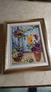 春の日差しの中でゆ~ったり気分・・・ 最近の押し花アート