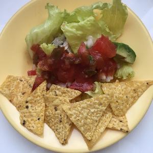 tacos 今朝もサラダ