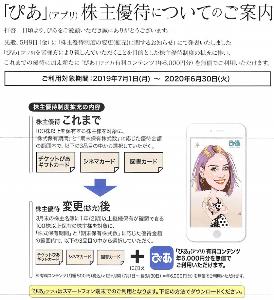 4337 - ぴあ(株) 「ぴあ」有料コンテンツ 年6,000円分無償利用。 アプリをダウンロードして早速、登録しました。 (