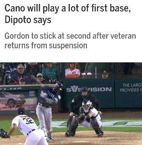 イチローを応援しよ! 【 カノーは主に一塁で 】  8月15日復帰予定のカノーにはとりあえず一塁を守らせたいようですね。