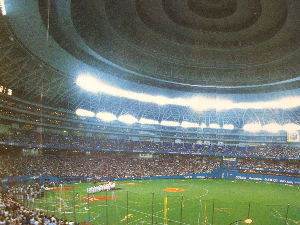 九州の近鉄ファン大集合 いよいよ東北楽天が、日本一です。 2001年9月26日の大阪ドーム。 チケット完売の癖に3塁側内野上