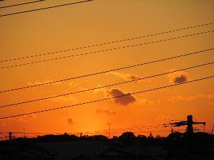 気まぐれ写真館&雑談 先週は綺麗な夕焼けでしたよ。