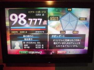 カラオケが下手な人が集まる掲示板 98.777点「星の流れに」  (菊池章子) ⇧ 99点に挑戦しました💦 過去最高点は98.891点