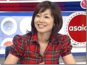 女性アナウンサー 有働由美子さん。可愛い。