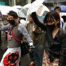 """TPP参加を撤回させる会 顔を隠して・・・          なぜ??     なぜ??    """"日本と、日本人を"""
