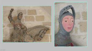 6740 - (株)ジャパンディスプレイ スペイン笑  スペインで16世紀に作られた騎士像を地元の職人が修復したところ、色鮮やかで気の抜けた表