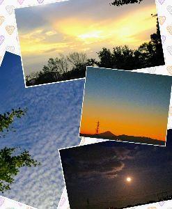 ★心とかす…竹島宏の歌声♪….:*:・'°☆ ★秋の空   朝陽、青空、夕暮れ、月夜。  なんだか芸術的に見えちゃいます。