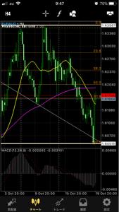 euraud - 欧州 ユーロ / オーストラリア ドル 上げて下げて 大きめのM